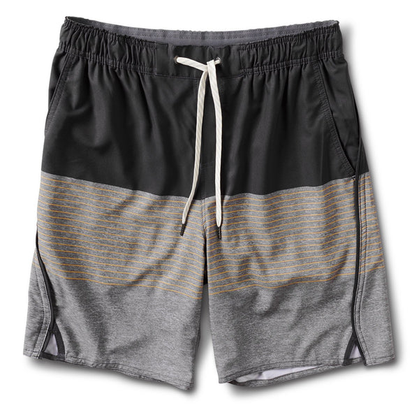 Trail Short | Saffron Stripe