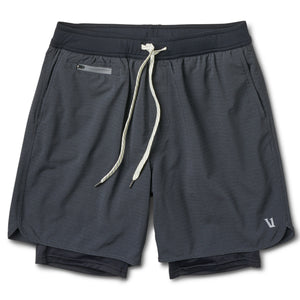 Stockton Short | Black Linen Texture