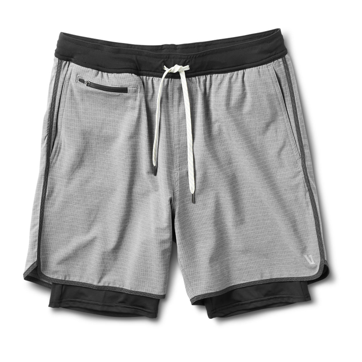 Stockton Short | Grey Linen Texture