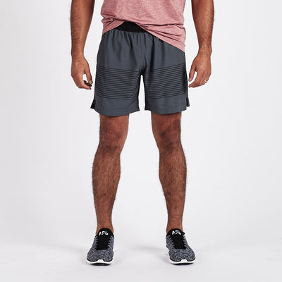 Rush Short | Charcoal Black Stripe