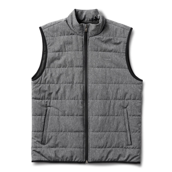 Atlantic Vest | Black Linen Texture