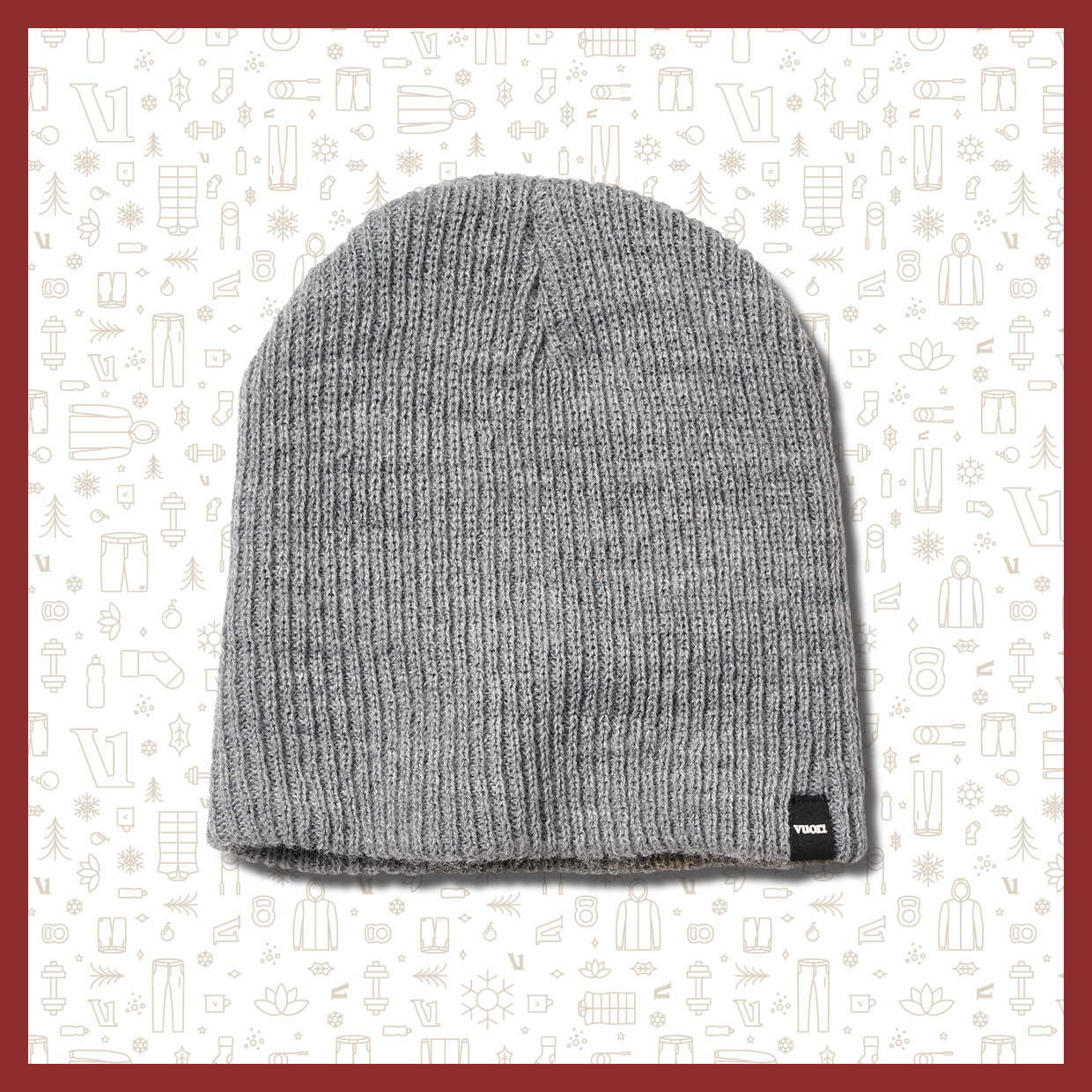 Holiday Beanie | Heather Grey