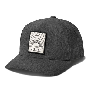 Geometric Hat | Black Heather