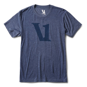 V1 Logo Tee | Navy Heather