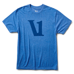 V1 Logo Tee | Royal Heather