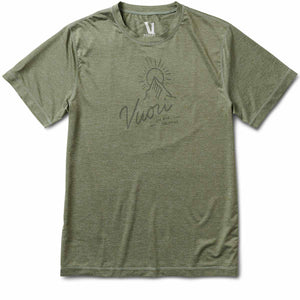 Vuori Peak Tech Tee | Army Heather