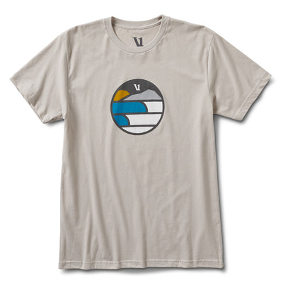 Waves Mountain Sun Tee | Light Grey