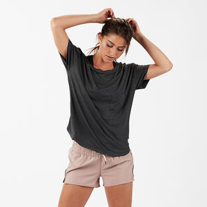 Lux Performance Tee | Charcoal Heather