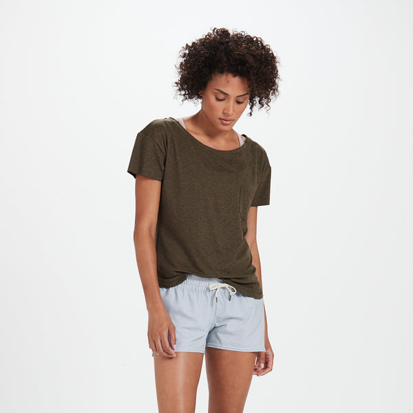 Lux Performance Tee | Heather Evergreen