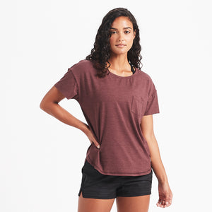 Lux Performance Tee | Fig Heather