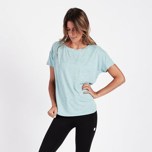 Lux Performance Tee | Glacier Heather