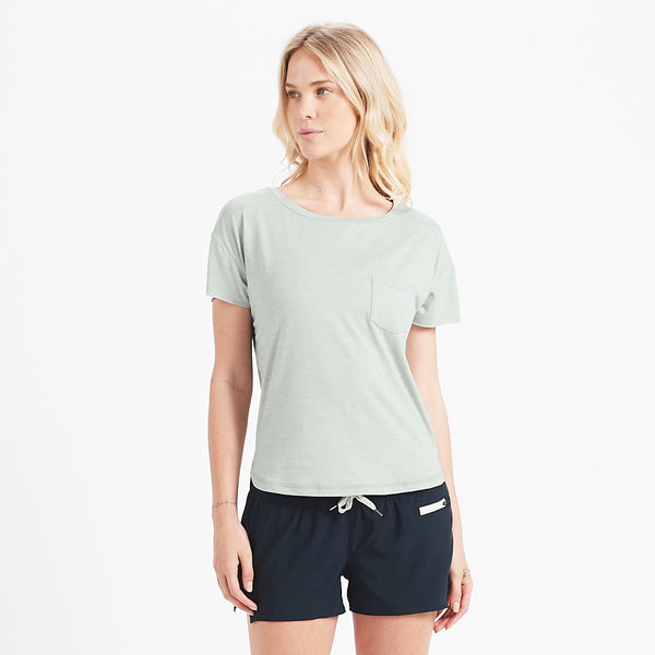 Lux Performance Tee | Sage Heather