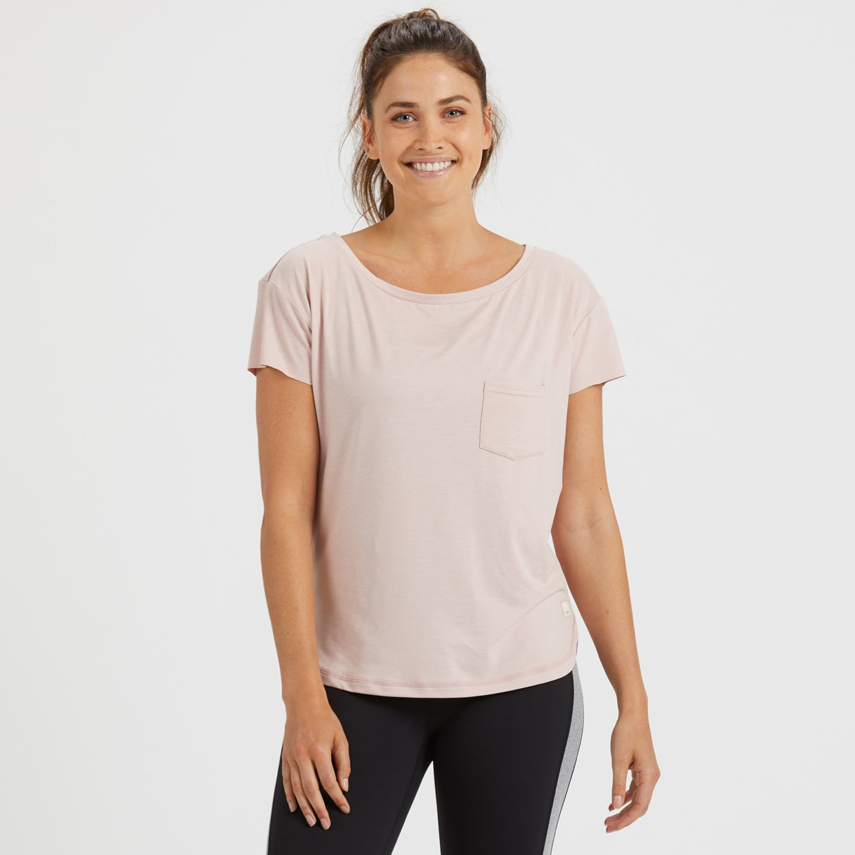 Lux Performance Tee | Shell Heather