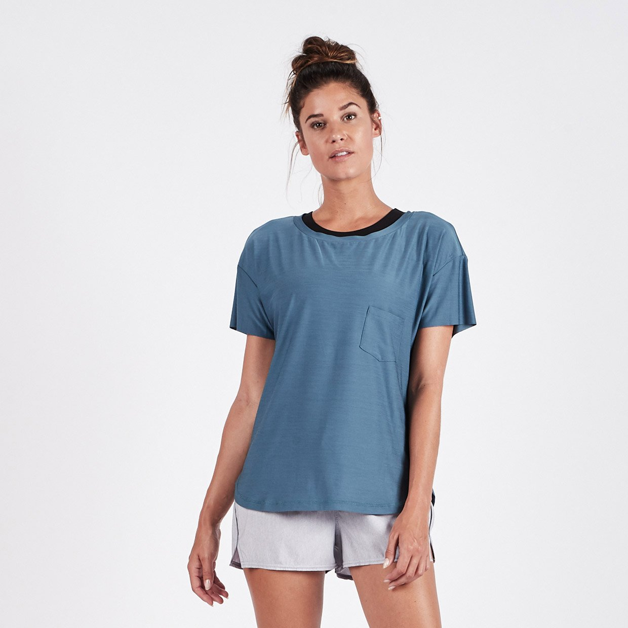 Lux Performance Tee - Tide Heather - Tide Heather 1
