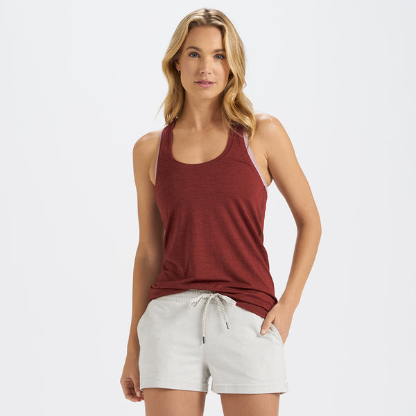 Lux Performance Tank | Spice Heather
