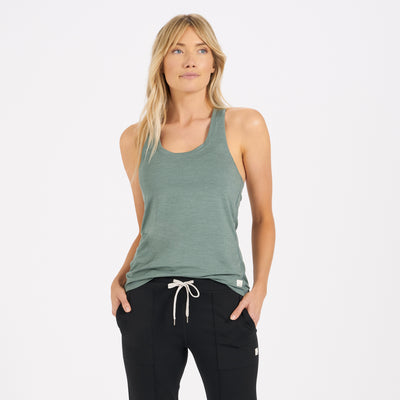 Lux Performance Tank | Kelp Heather