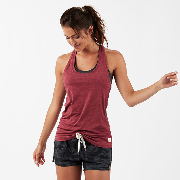 Lux Performance Tank | Sangria