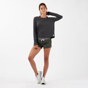 Lux Performance Long-Sleeve Tee - Charcoal Heather - Charcoal Heather 1