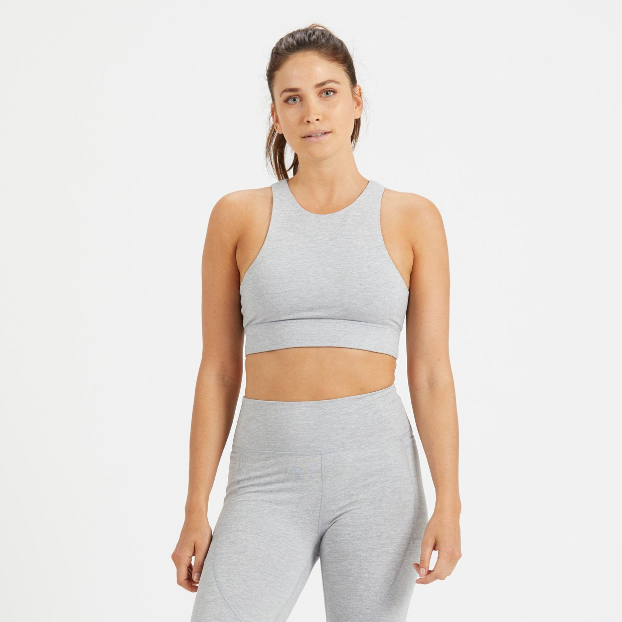 Juno Sports Bra | Light Heather Grey