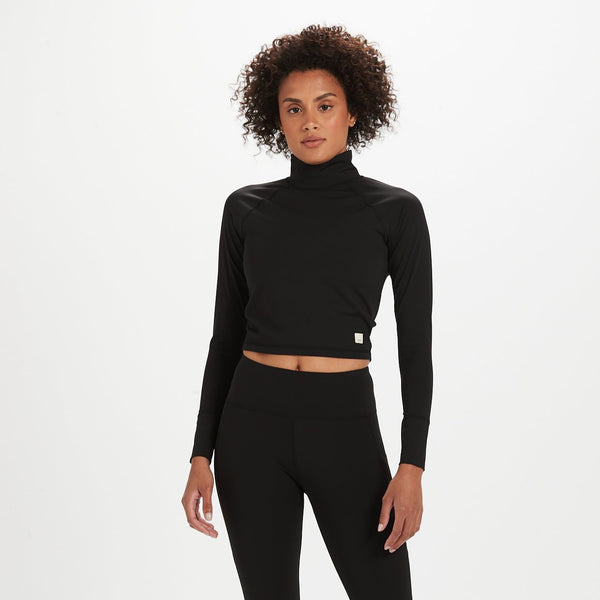 Marine Mock Neck | Black