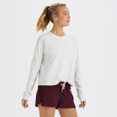 Long-Sleeve Mudra Tee | White Heather