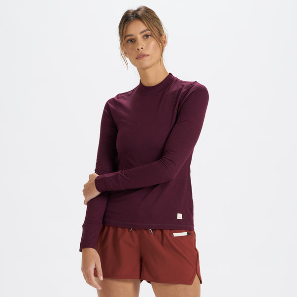Long-Sleeve Lux Tee | Cerise Heather