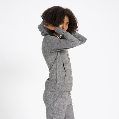 Halo Performance Hoodie | Heather Grey