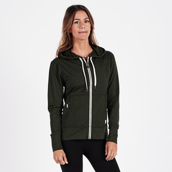 Halo Performance Hoodie | Moss Heather