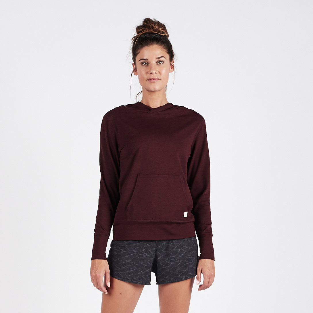 Halo Performance Pullover | Bordeaux Heather