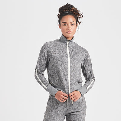 Eclipse Track Jacket | Heather Grey