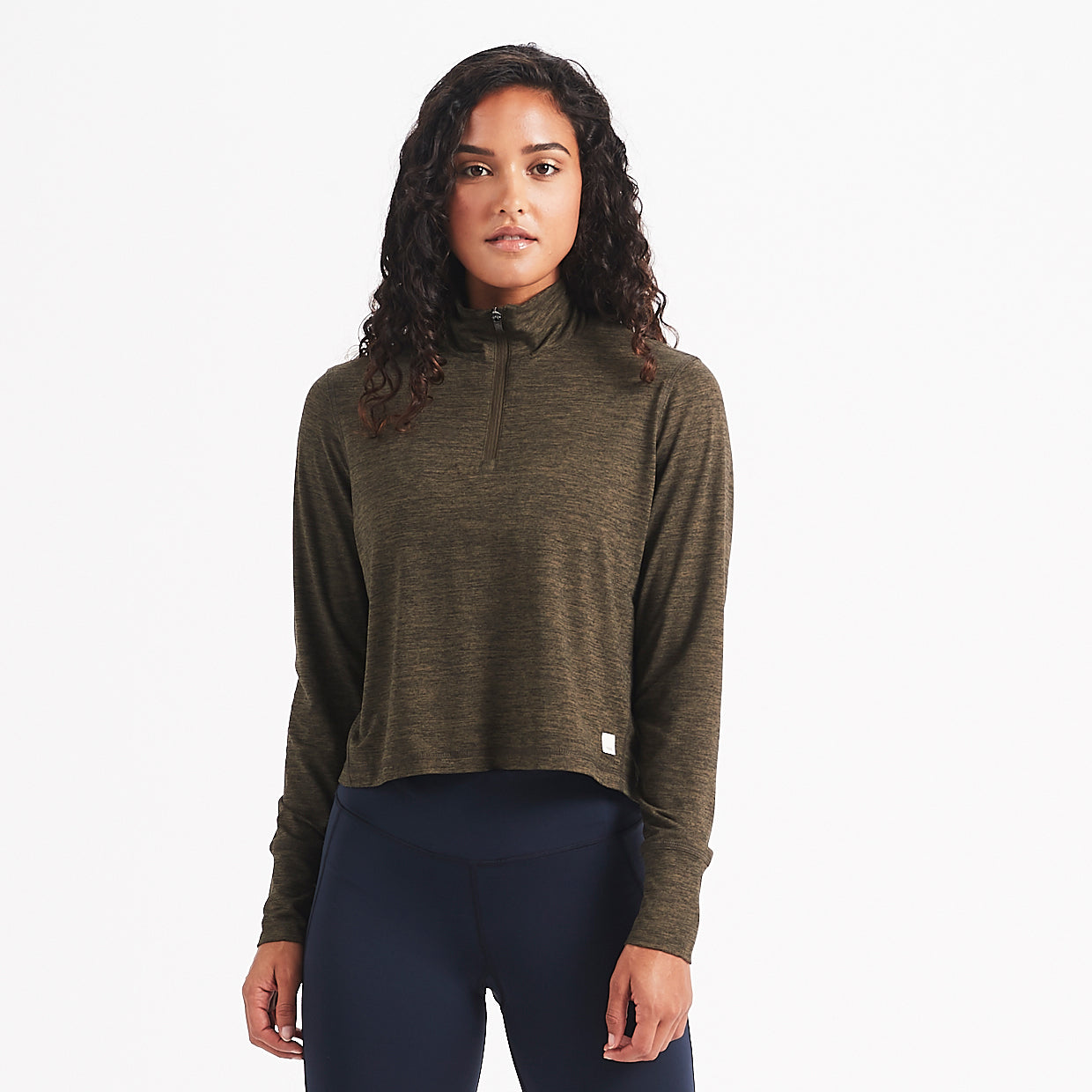 Crescent Half Zip | Evergreen Heather