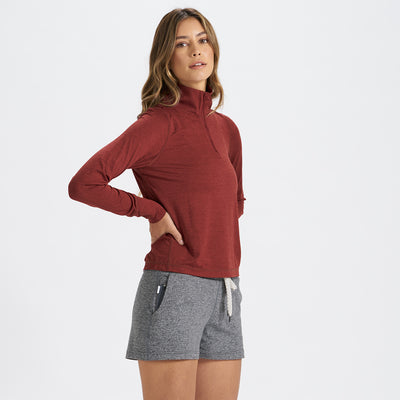 Crescent Half Zip | Spice Heather