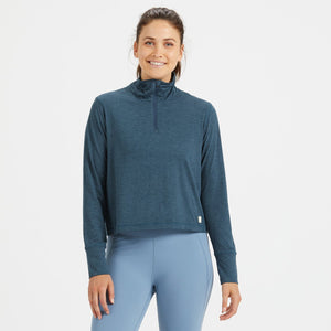Crescent Half Zip | Indigo Heather
