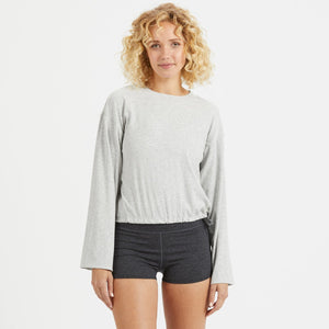 Mudra Top | Light Heather Grey