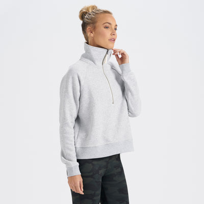 Restore Half Zip | Light Heather Grey