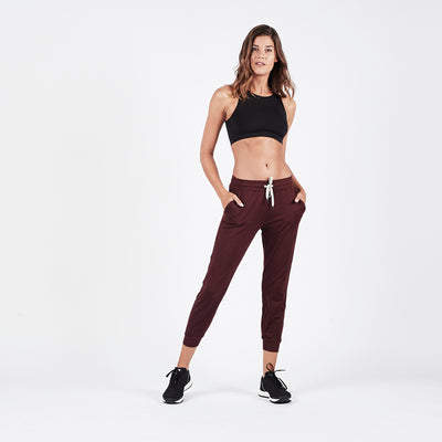 Performance Jogger | Bordeaux Heather