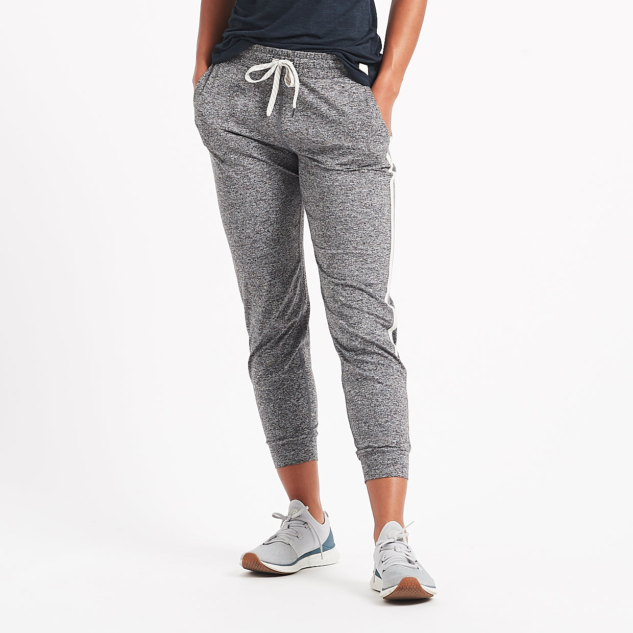 Performance Jogger | Heather Grey / Natural Stripe