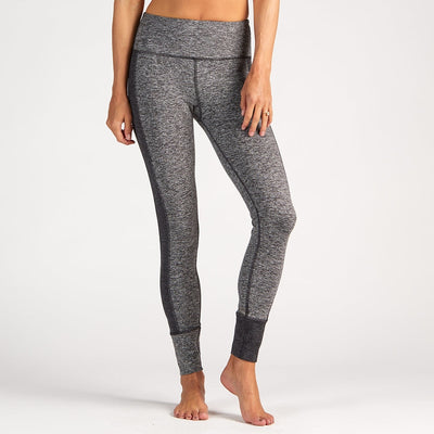 Asymmetric Block Legging | Heather Grey