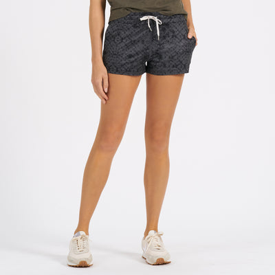 Halo Performance Short | Charcoal Shibori