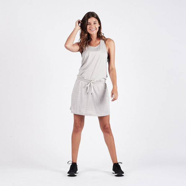 Sol Tank Dress | Light Heather Grey