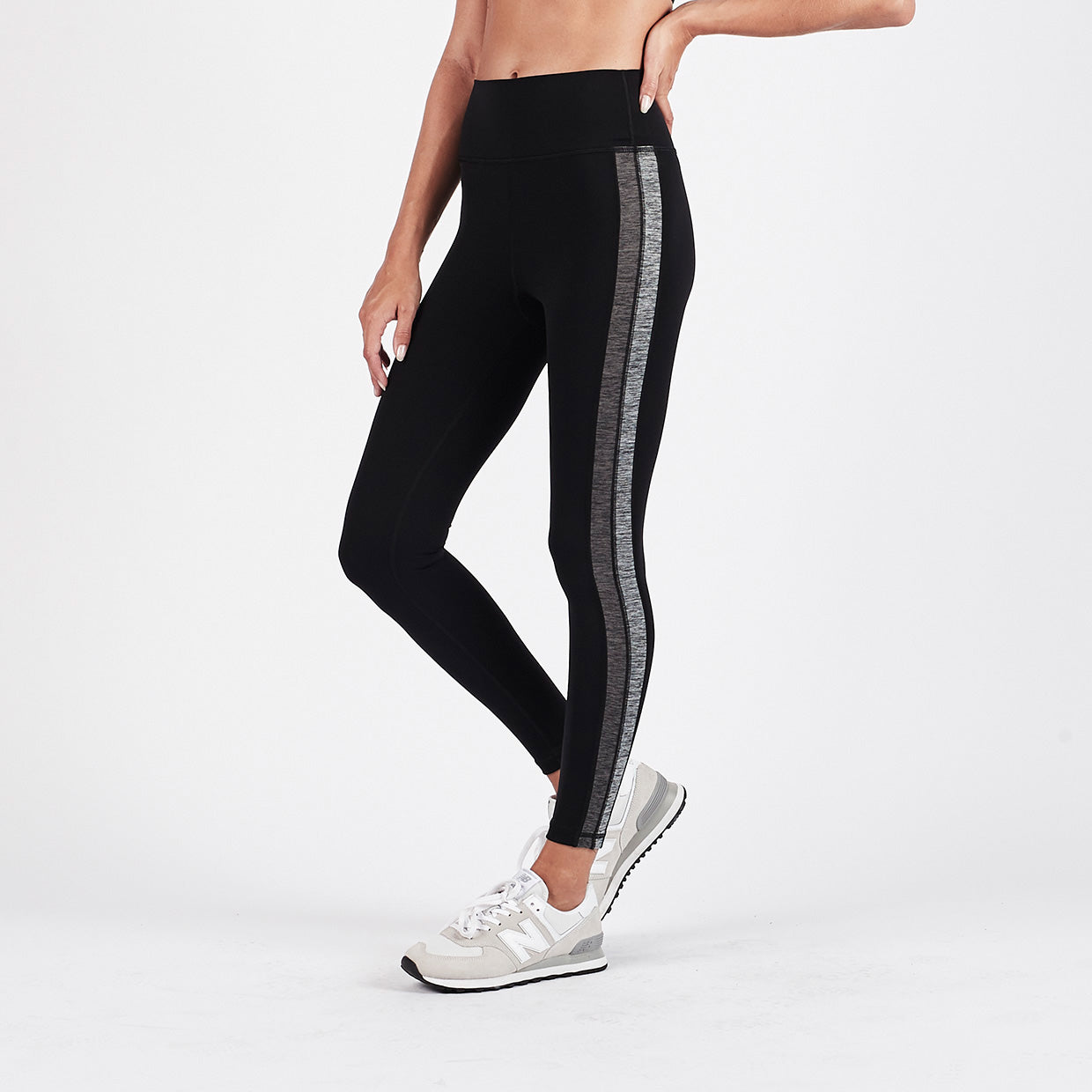 Racer High Rise Legging | Black