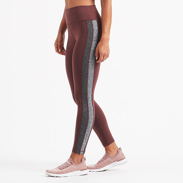 Racer High Rise Legging | Fig Charcoal / Heather Block