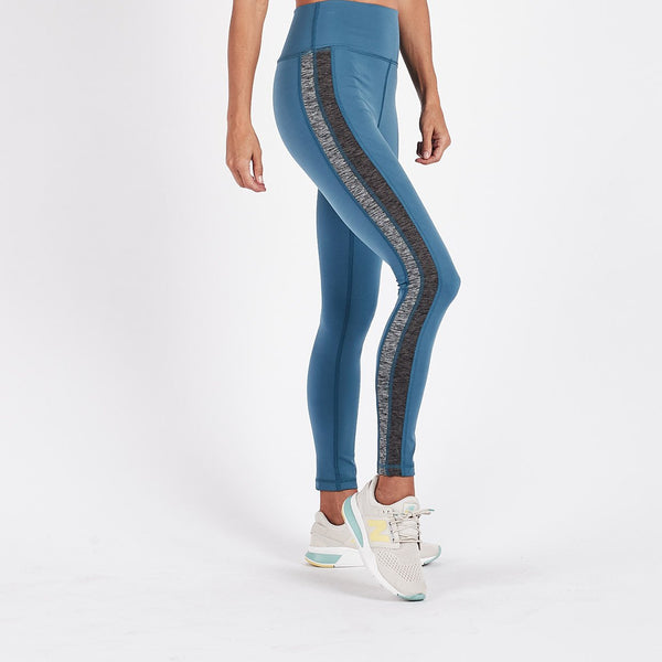 Racer High Rise Legging | Tide Charcoal / Heather Block