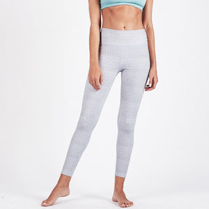 Vibes Mid Rise Legging - Grey Arrow Texture - Grey Arrow Texture 1