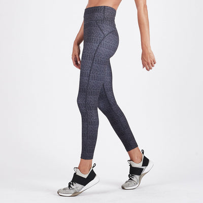 Pace High Rise Printed Legging | Charcoal Arrow Texture