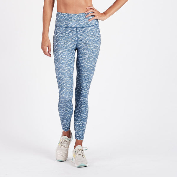 Pace High Rise Printed Legging | Navy Wave