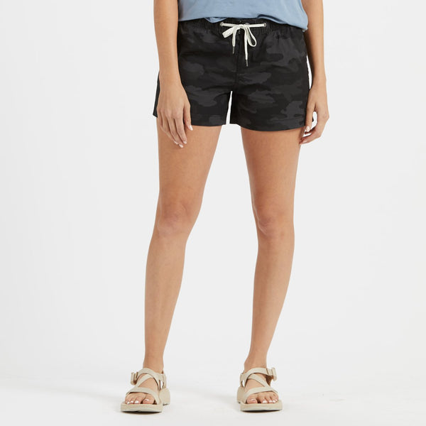 Womens Ripstop Short | Black Camo