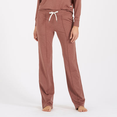 Halo Wideleg Pant | Terracotta Heather