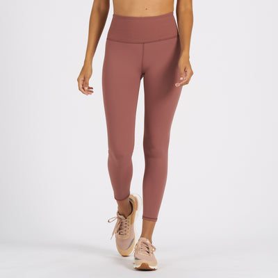 Rib Studio Legging | Terracotta