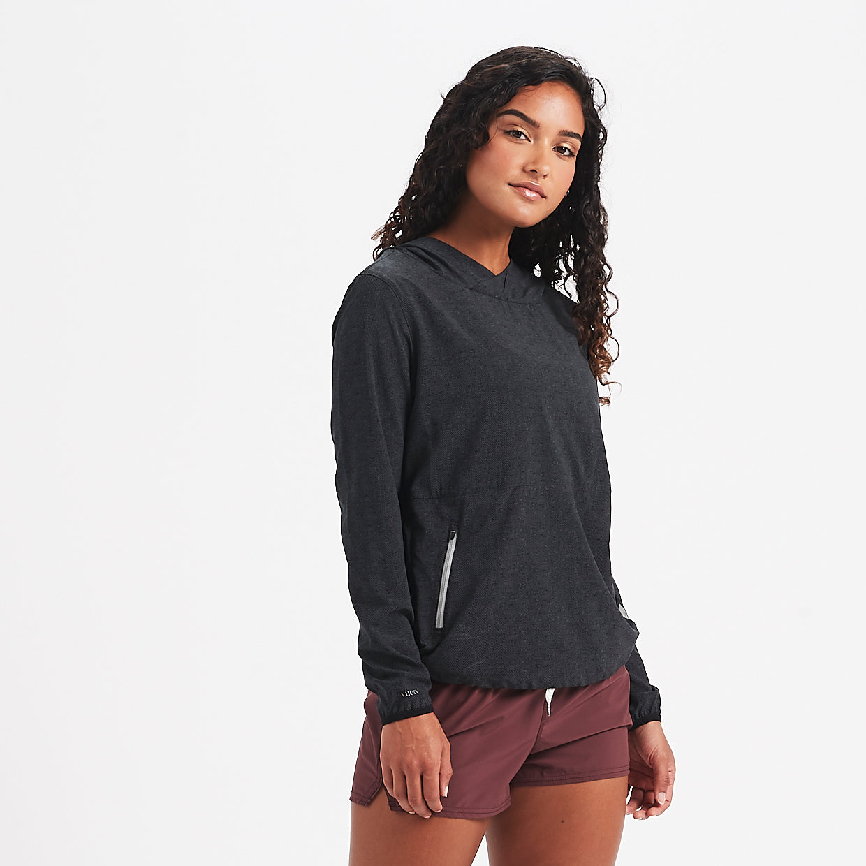 Westerly Packable Pullover | Charcoal Twill Texture